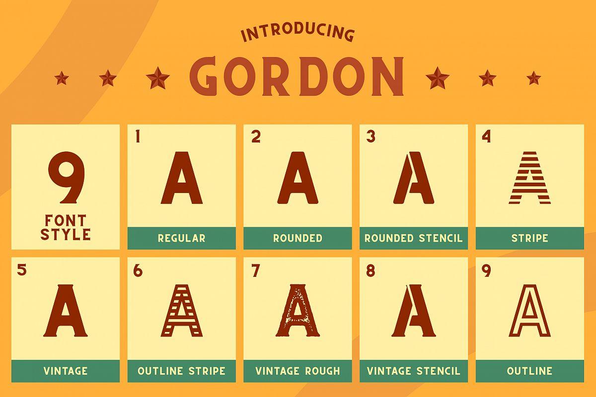 CS Gordon Font Family example image 1