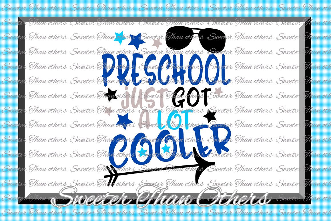 Preschool Cooler SVG Pre K Grade cut file Last Day of School example image 1