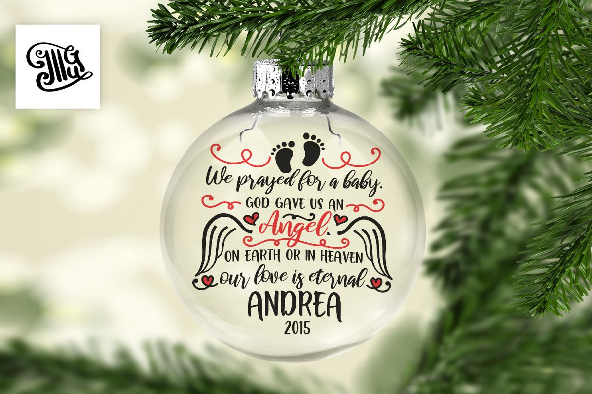 We prayed for a baby - Child memorial example image 1