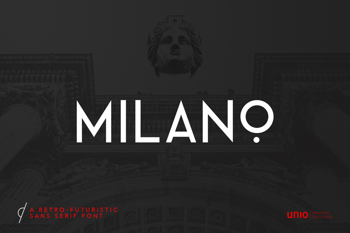 Milano - RetroFuturistic Sans example image 1
