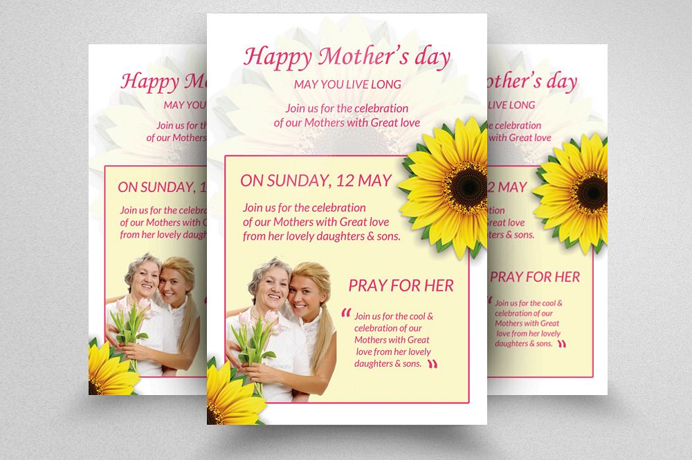 happy mother s day flyer template