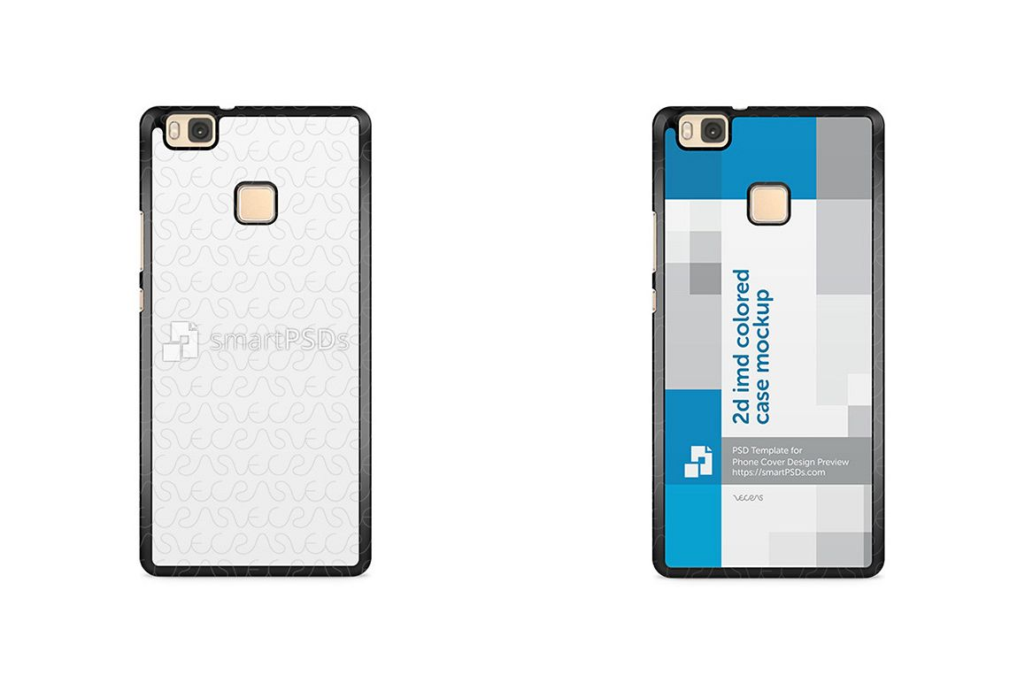 Huawei P9 Lite 2d IMD Colored Mobile Case Design Mockup 2016 example image 1