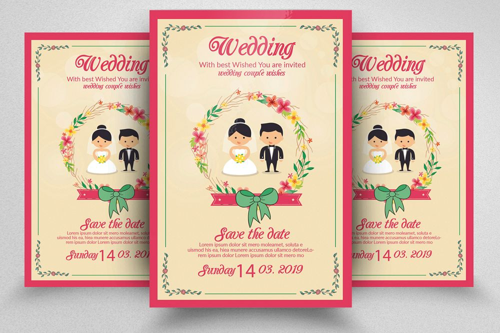 Wedding Invitation Flyer Template example image 1