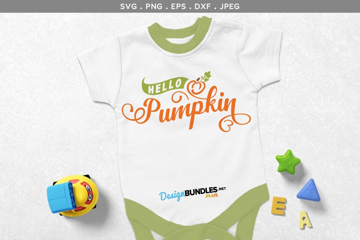 Hello, Pumpkin - svg, printable example image 1