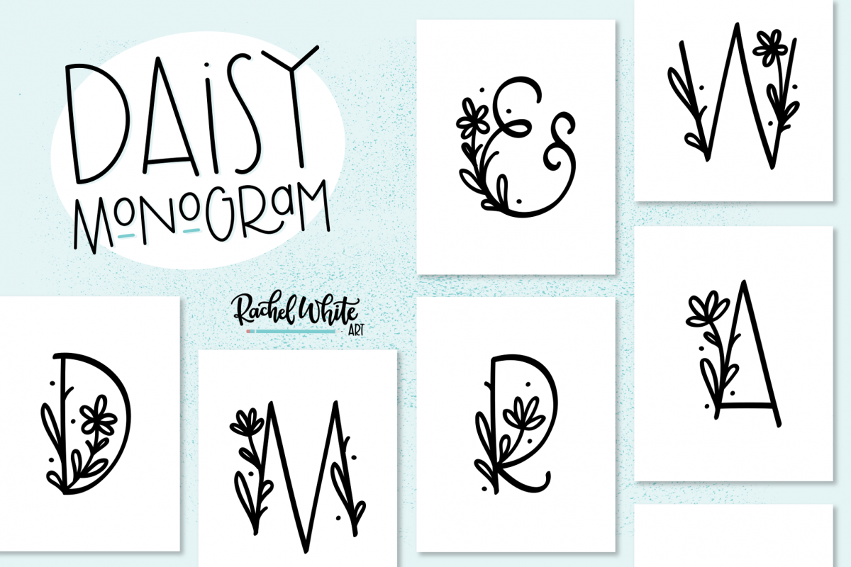 Daisy Monogram Font example image 1