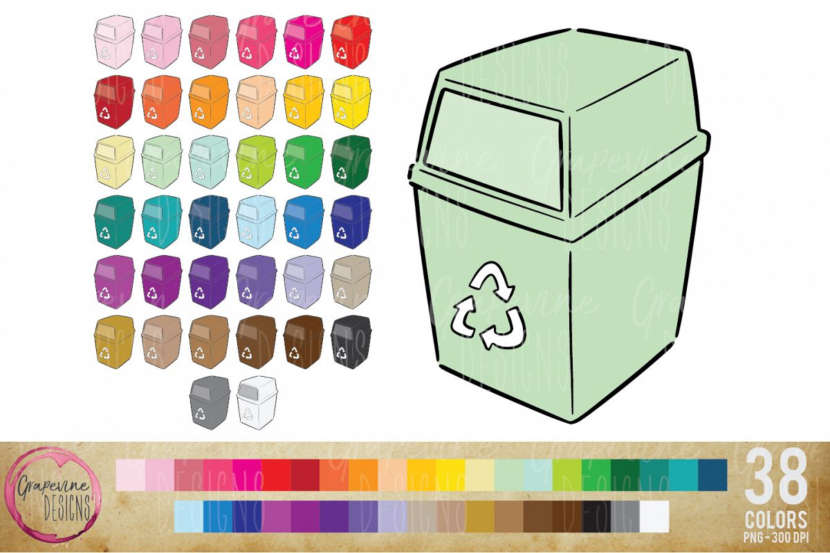 Recycling Planner Clipart example image 1