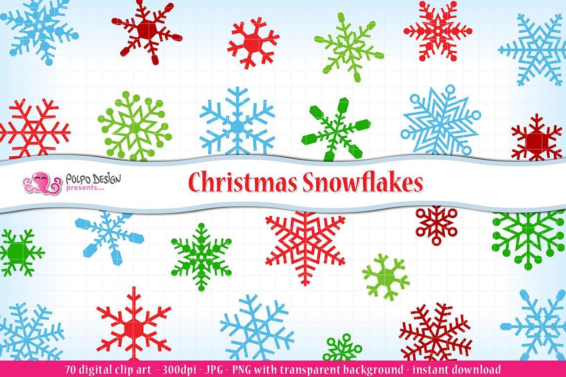christmas snowflakes clipart by polpo d design bundles