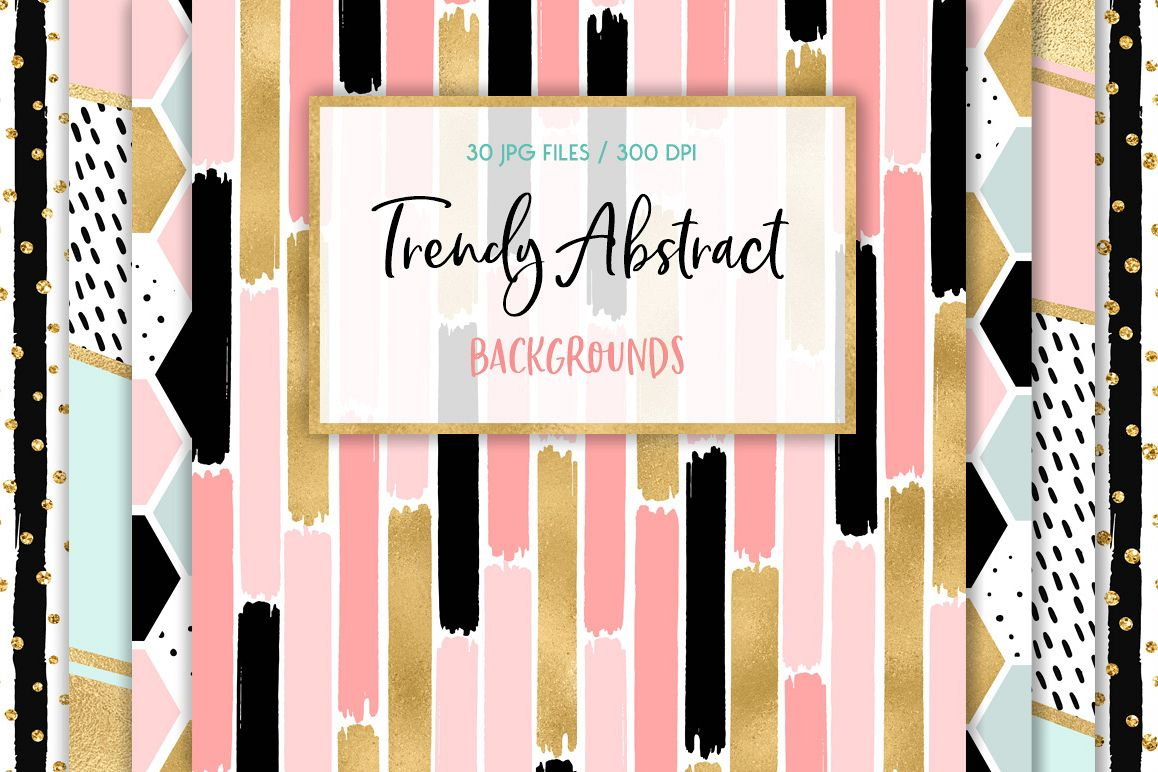 Trendy Abstract Backgrounds example image 1