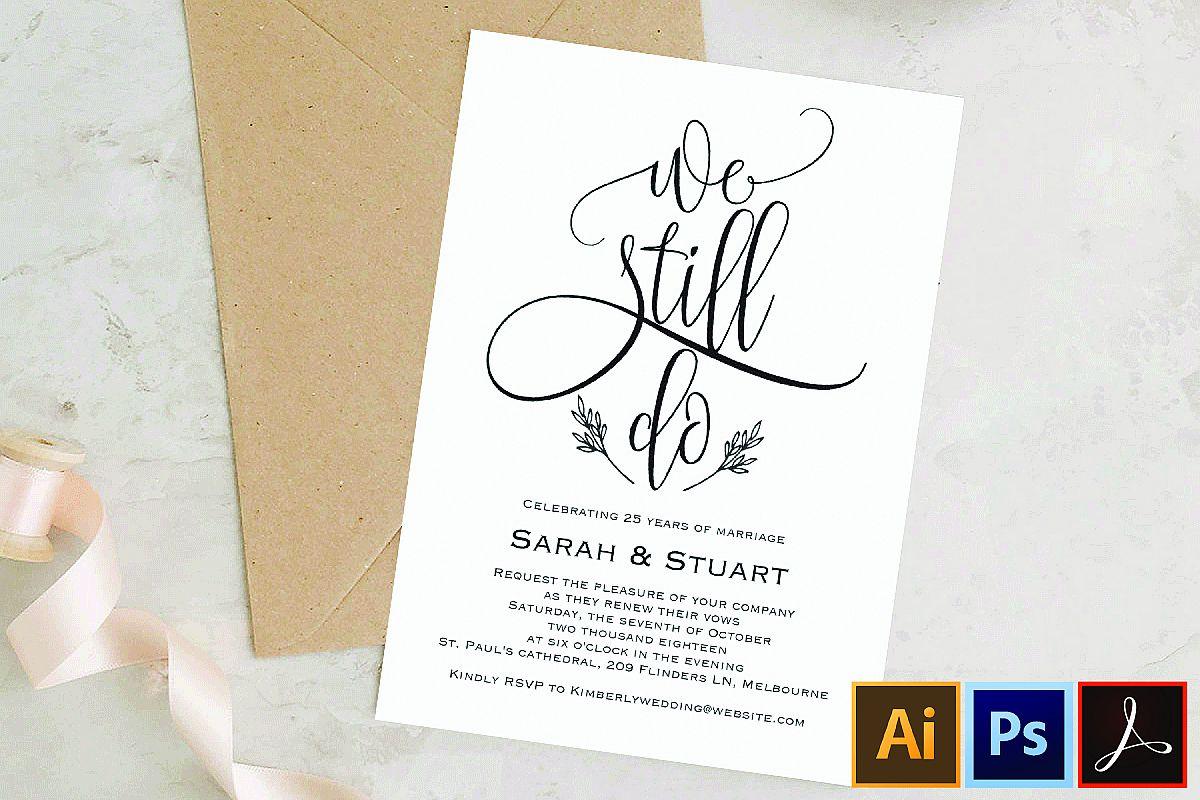 We still do invitation, Wedding anniversary invitation example image 1