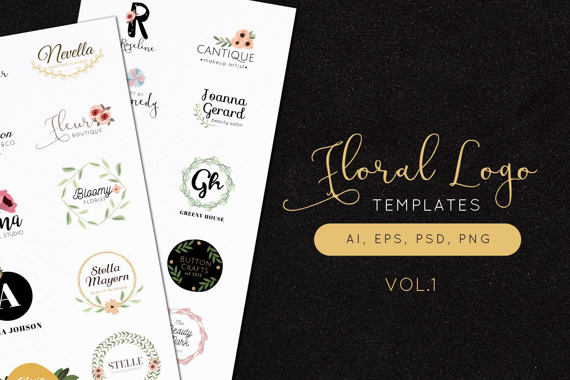 Floral Logo Templates Vol.1 example image 1