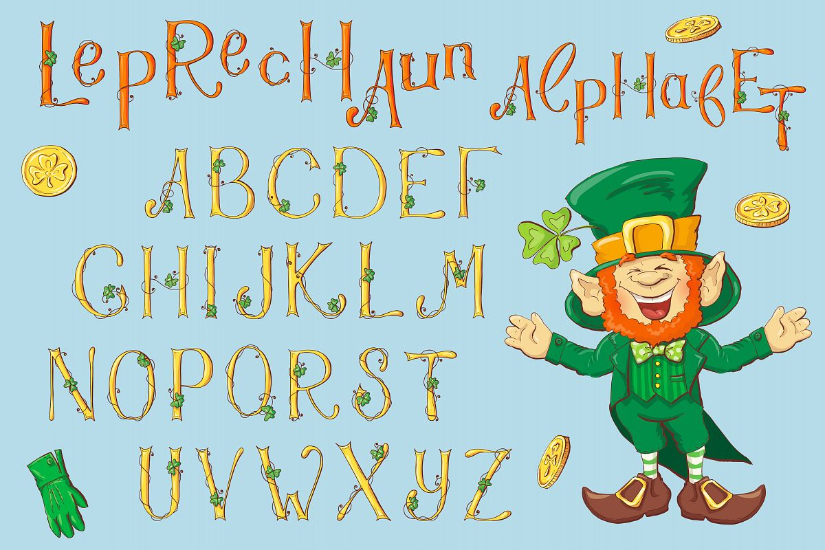 Leprechaun Alphabet – St. Patrick's Day example image 1