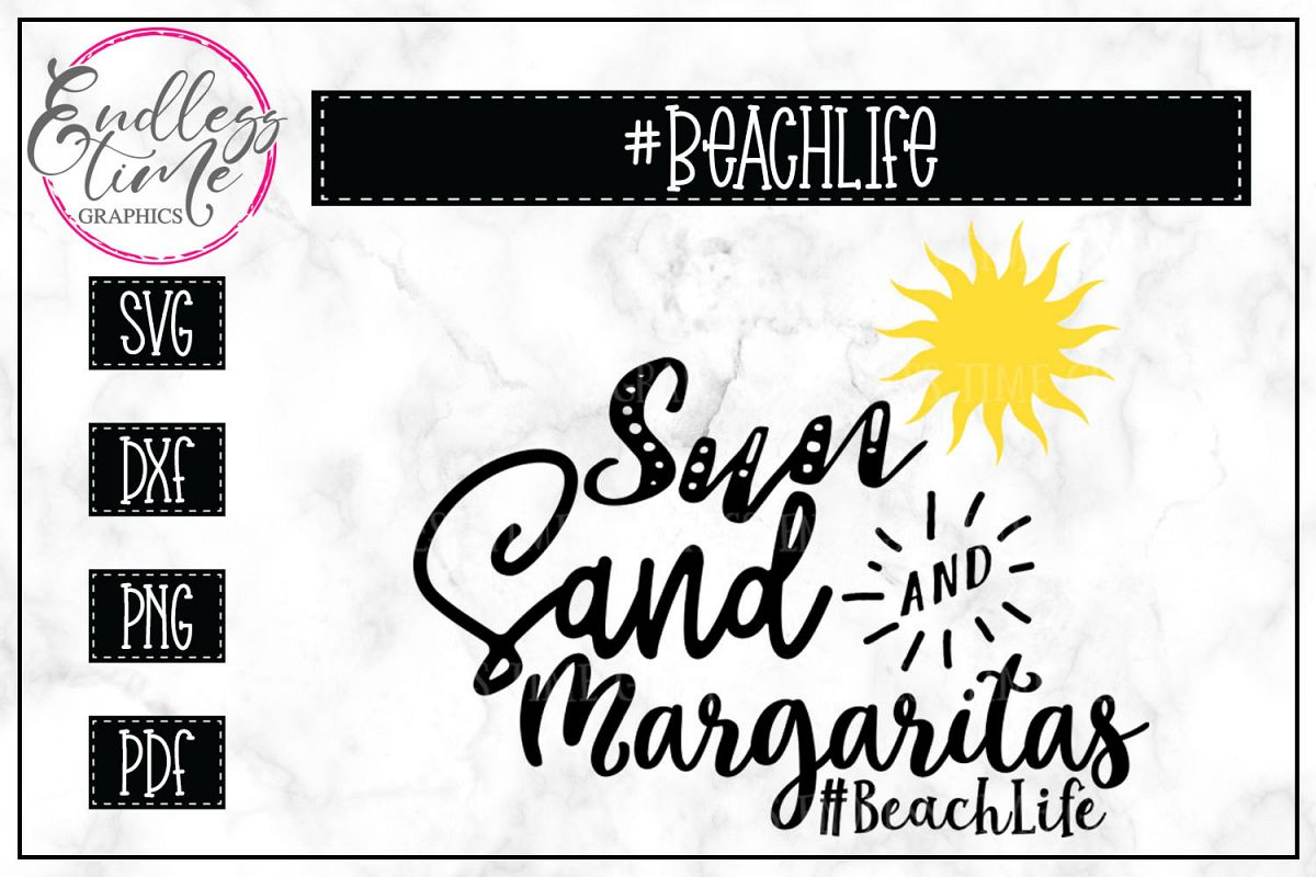 Sun Sand and Margaritas- Beach Life SVG example image 1