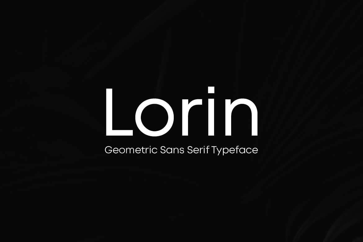 LORIN - Geometric Typeface & Web Fonts example image 1