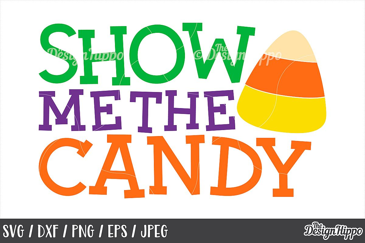 Show me the candy SVG, Candy corn, Halloween, Trick or Treat example image 1