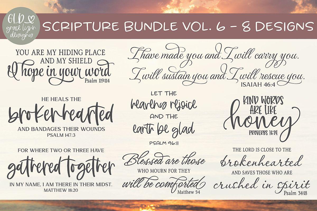 Scripture Bundle Vol. 6 - 8 Scripture Designs example image 1