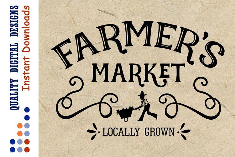 Farmers market svg Farmhouse Decor Svg Vintage decor example image 1