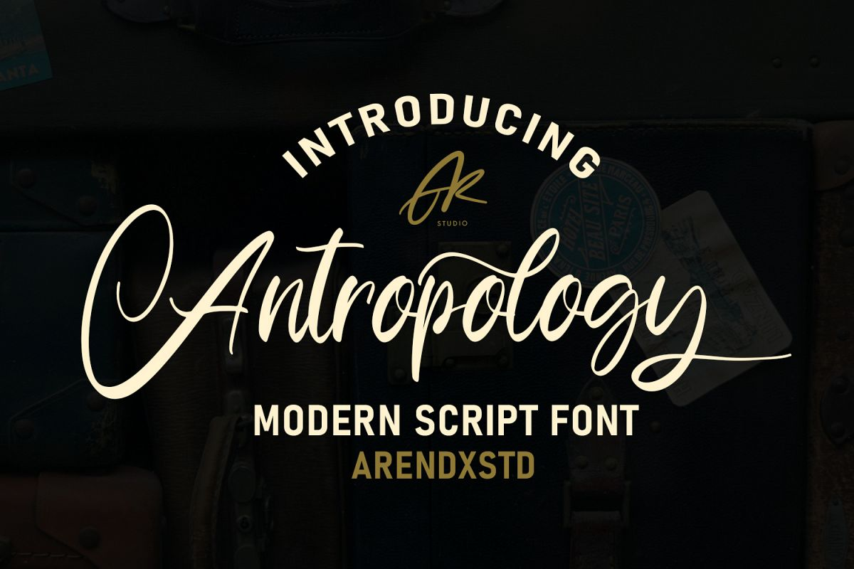 Anthropology Font example image 1