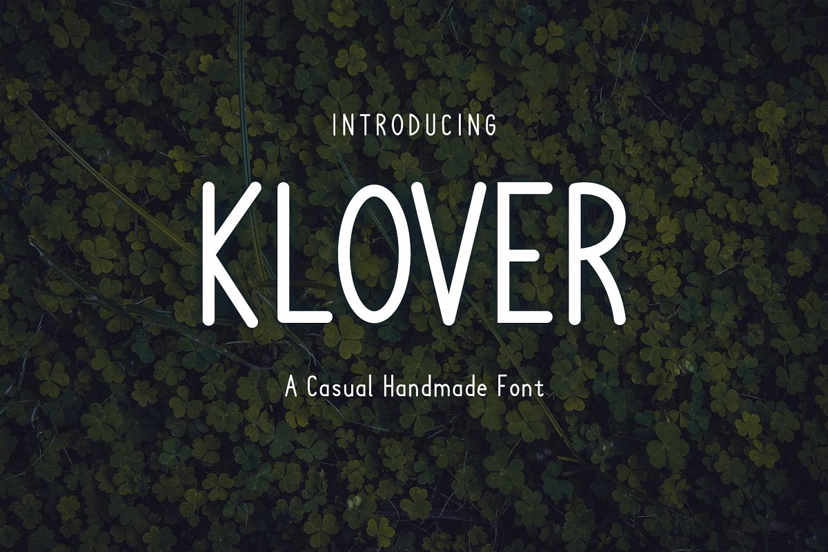 Klover - Casual Handmade Font example image 1