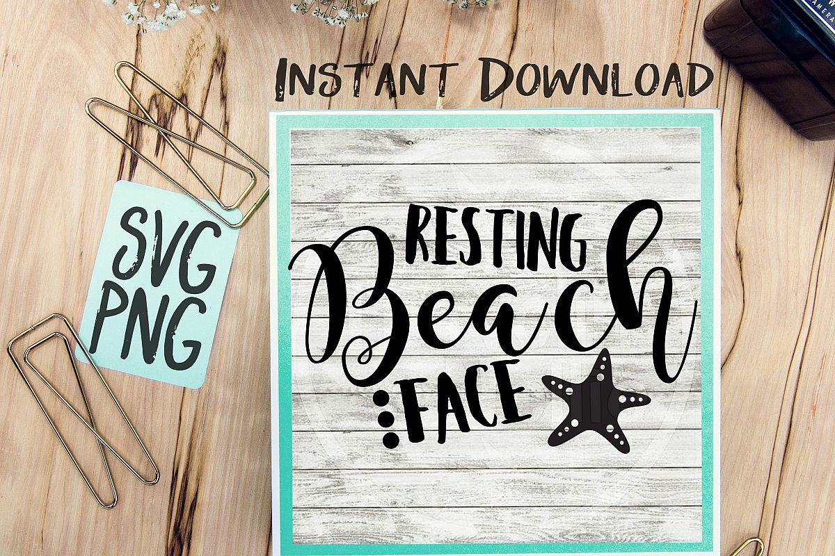 Resting Beach Face SVG Beach Quote Summer Time Humor example image 1