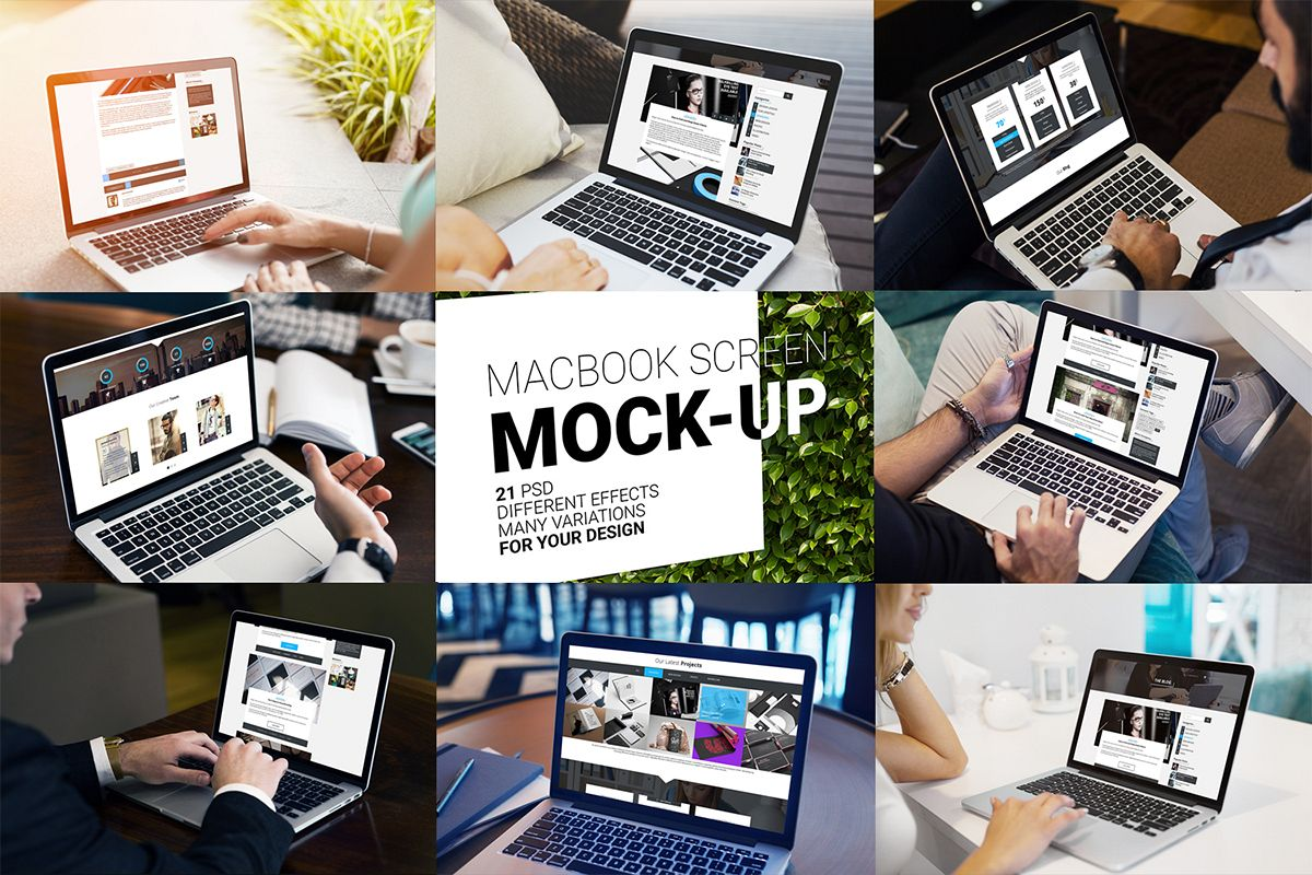 MacBook Screen Mock-Up / 21 PSD  example image 1