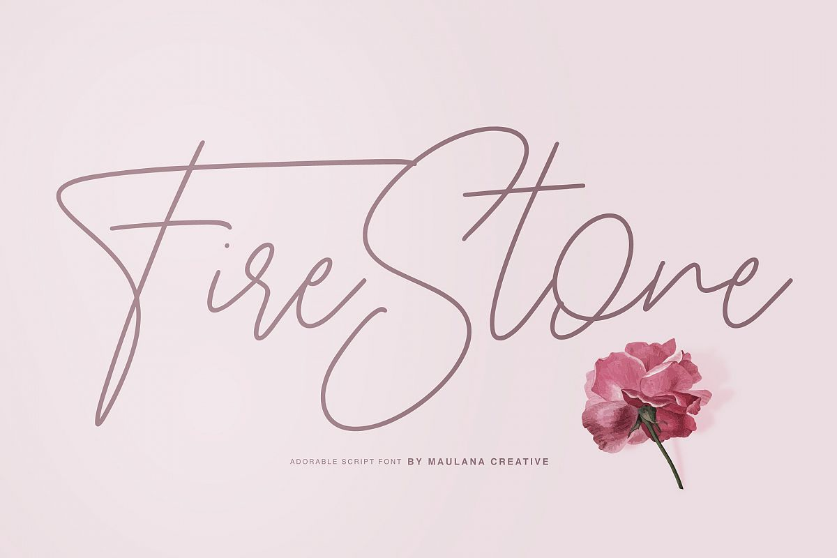 Fire Stone Signature Font example image 1