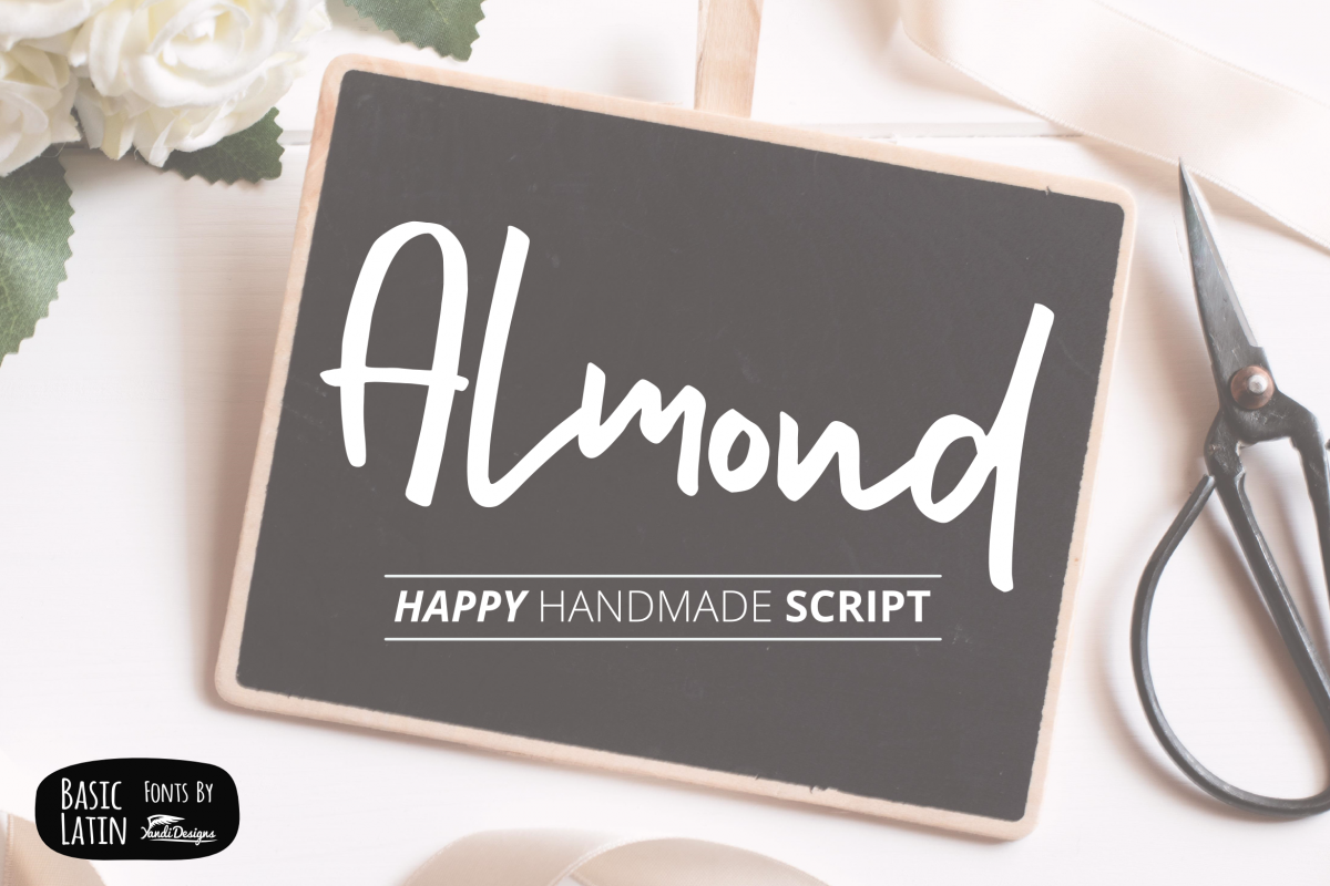 Almond Hand Lettering Script Fonts example image 1