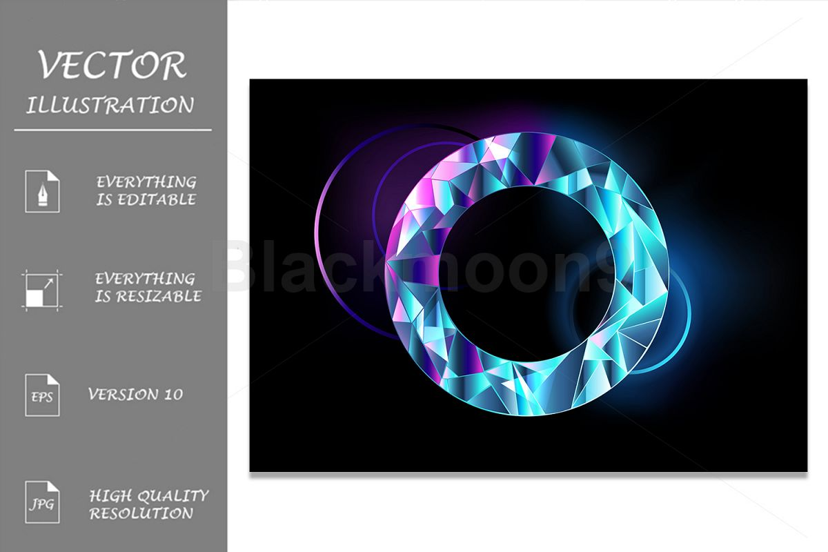 Round Faceted Banner example image 1