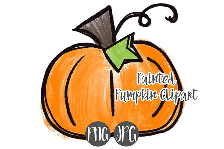 Hand Drawn Halloween Pumpkin Clipart - 2 example image 1
