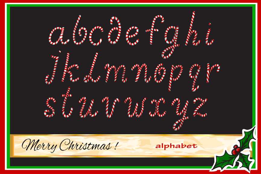 Christmas Candy alphabet. example image 1