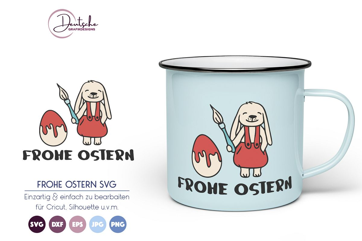 Osterhase SVG | Frohe Ostern example image 1