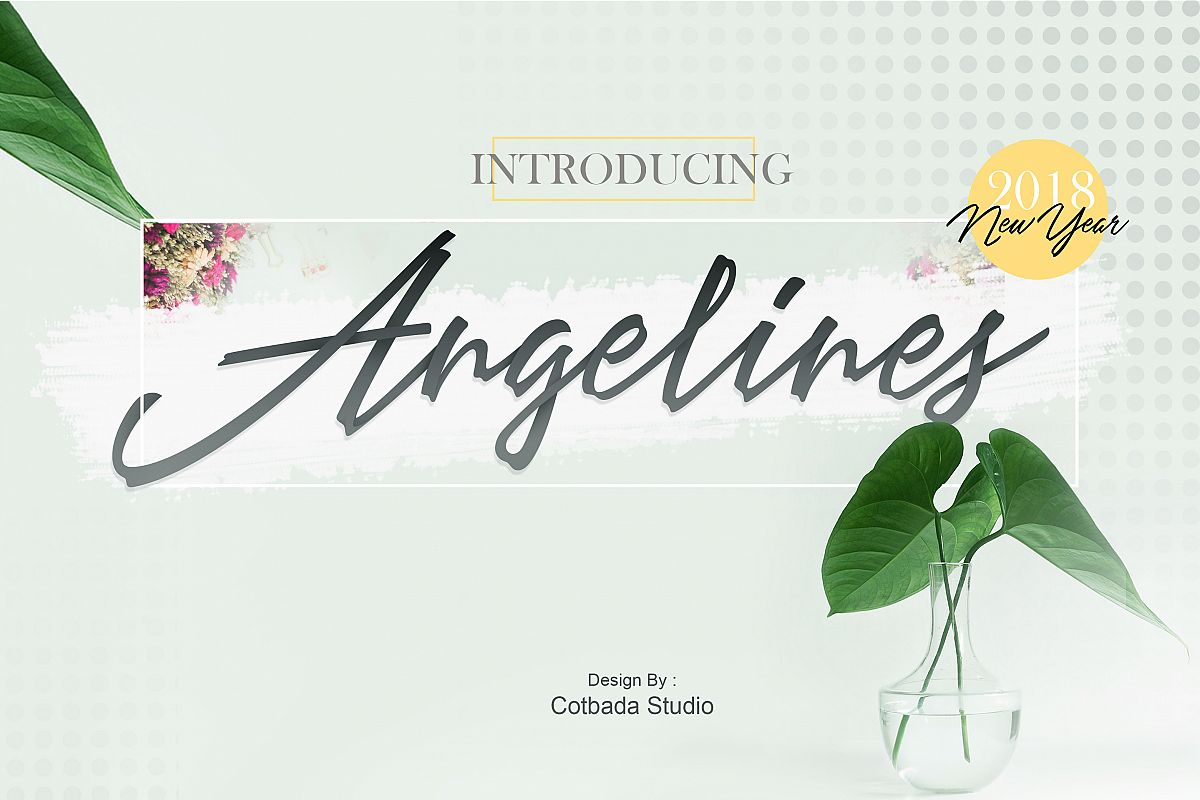 Angelines Script example image 1