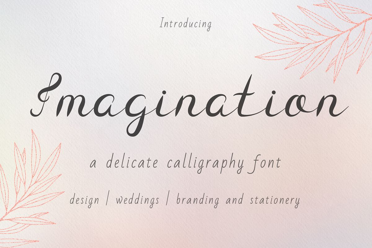Imagination Calligraphy Font example image 1