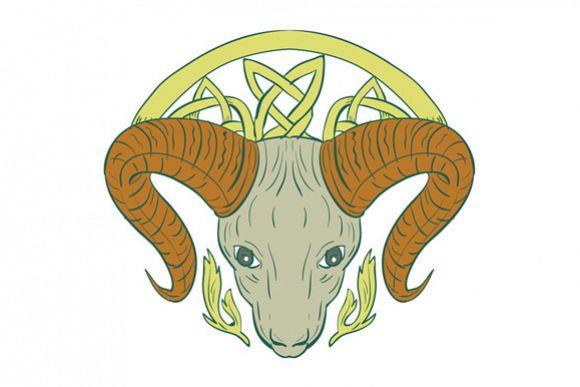 Ram Head Celtic Knot example image 1