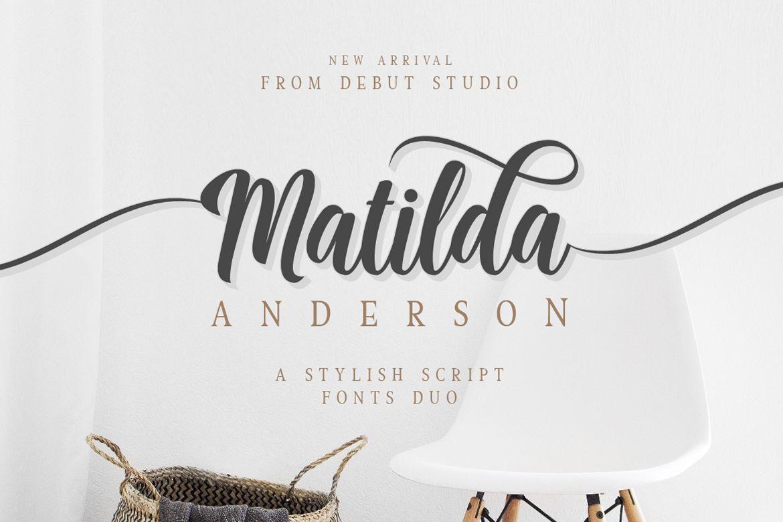 Matilda Anderson Font Duo example image 1