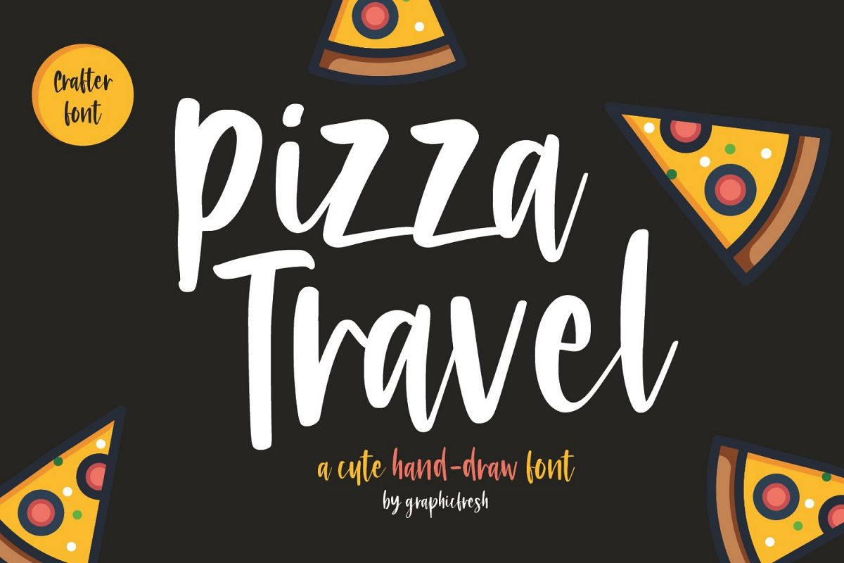 Pizza Travel - Cute Brush Font example image 1