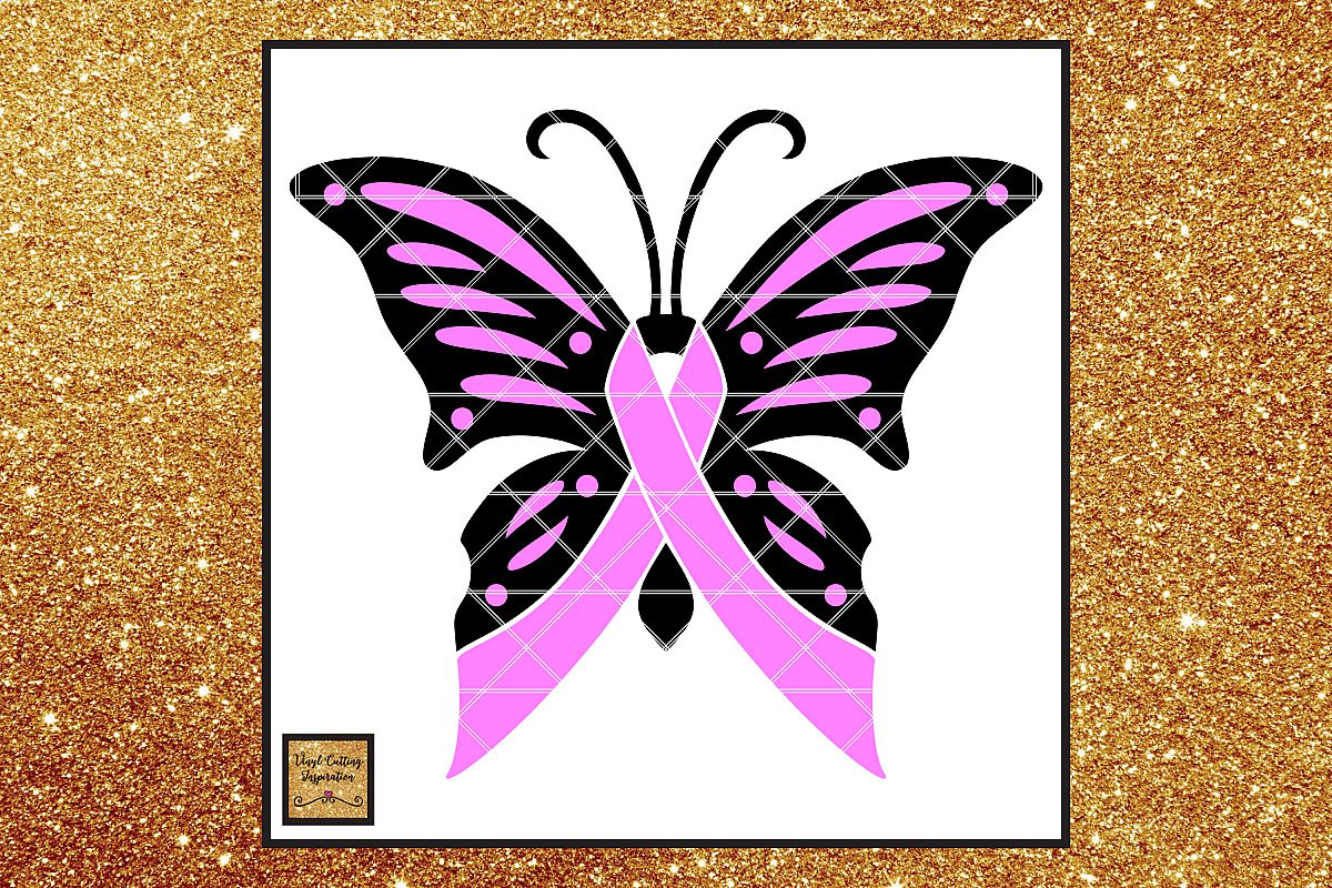 Breast Cancer Awareness Ribbon Butterfly Svg Cancer Ribbon 145795 Svgs Design Bundles