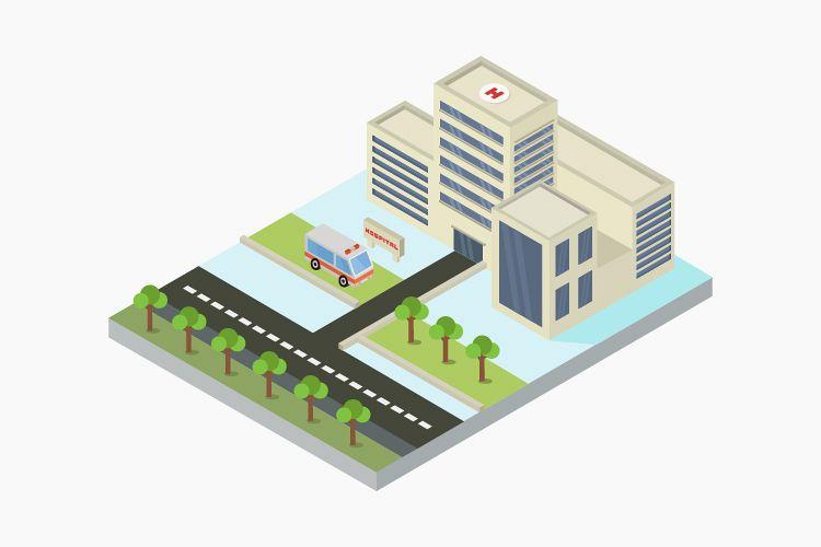 Isometric hospital example image 1