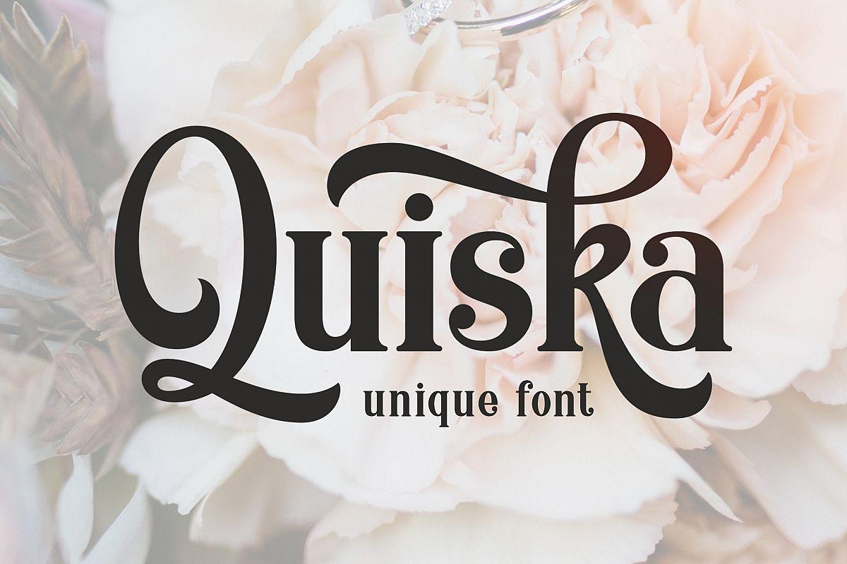 Quiska Unique Font example image 1