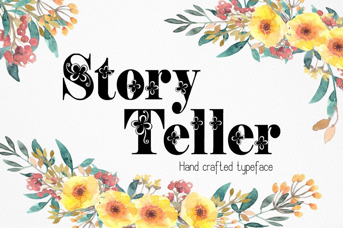 Storyteller font example image 1