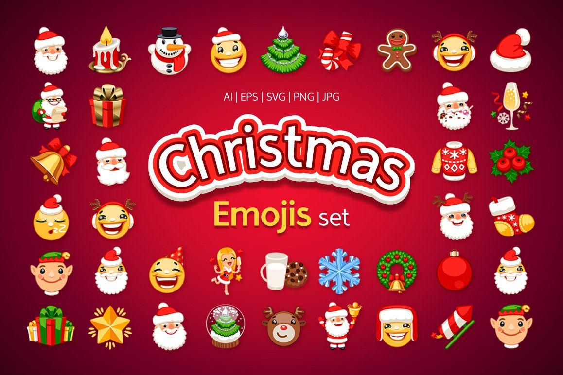 Christmas Emojis.Christmas Emojis Set