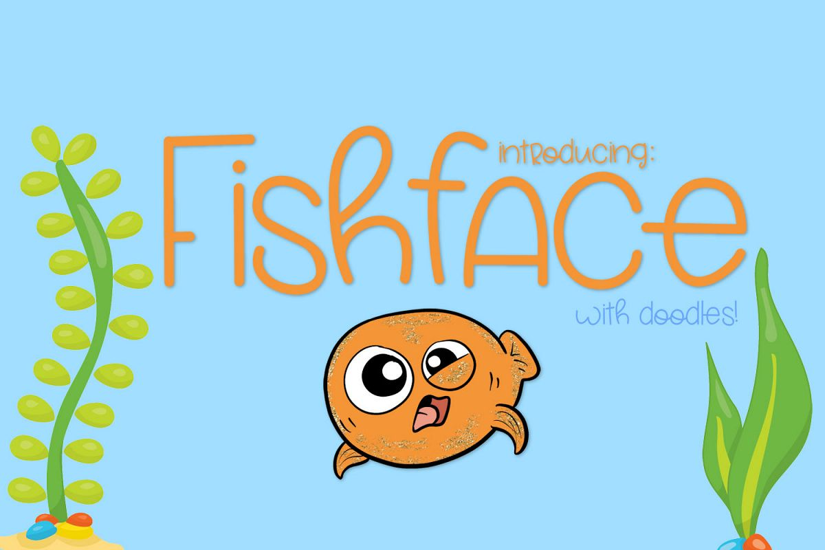 Fish Face - A Really Fun Handwritten Font example image 1