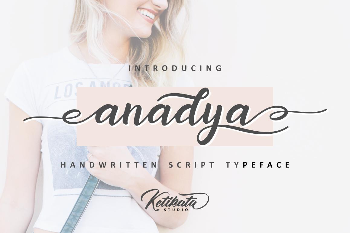 Anadya Handwritten Script example image 1