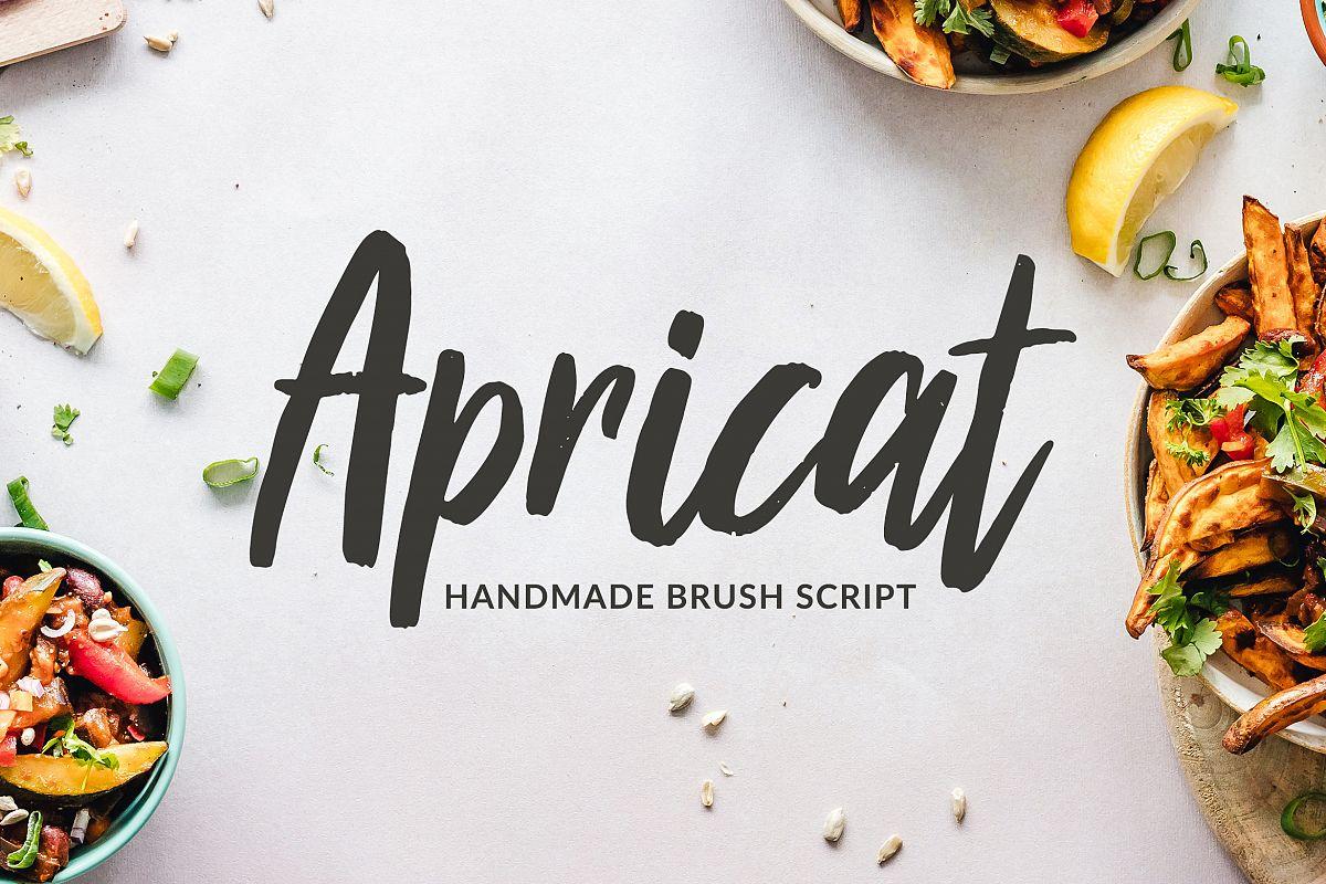 Apricat Brush Script example image 1