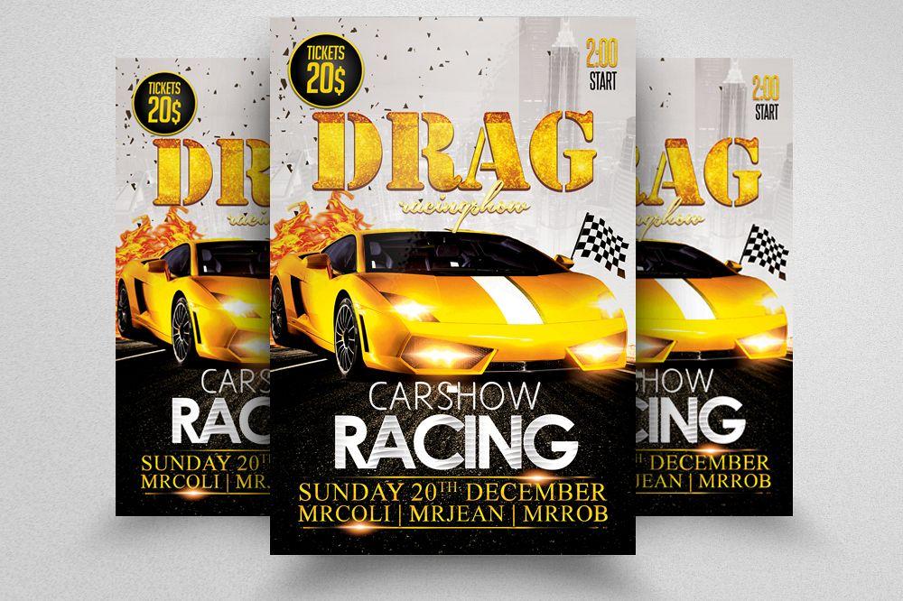 Car Drag Racing Flyer example image 1