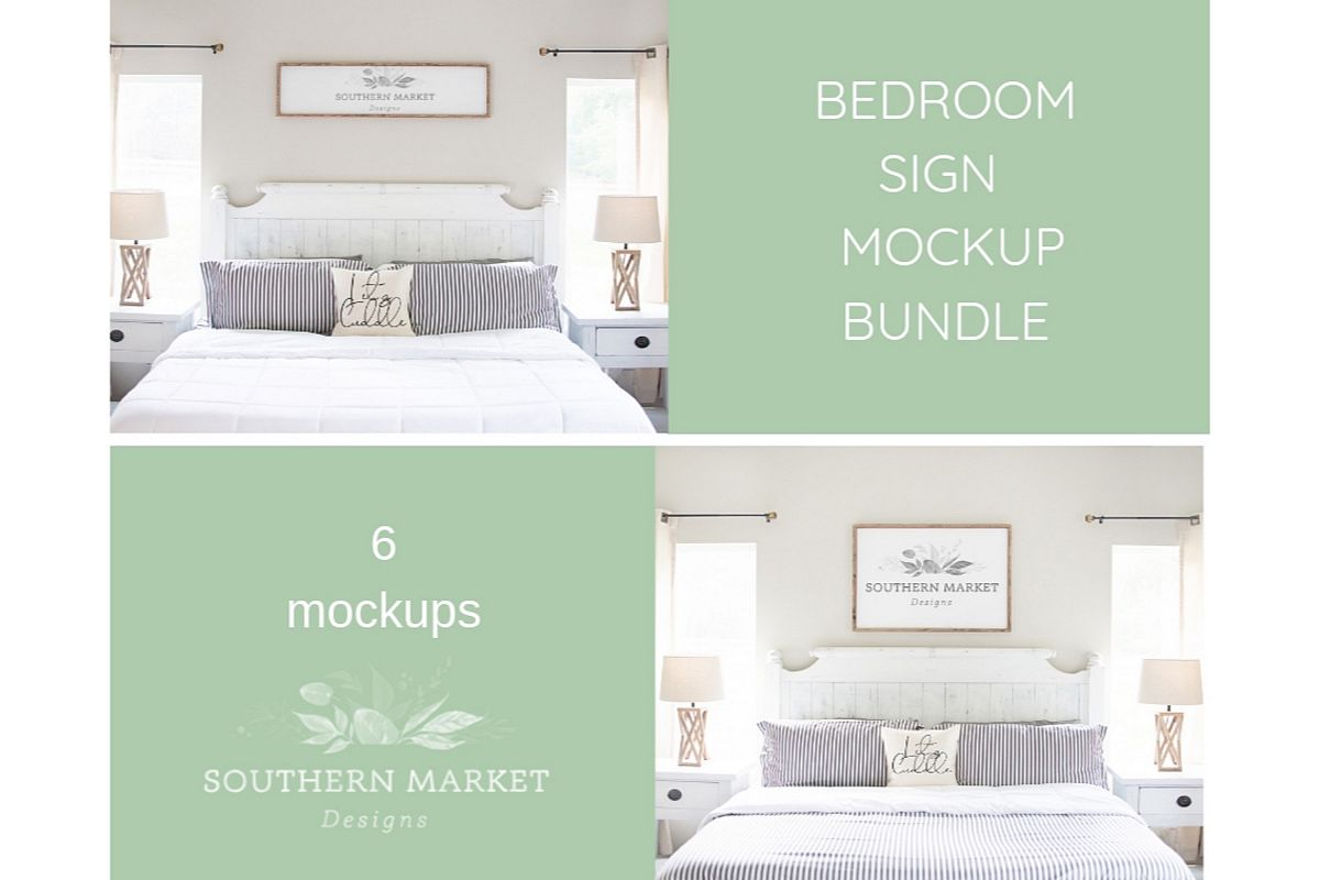 Bedroom Sign Mock Up Design Bundle Stock Photography example image 1