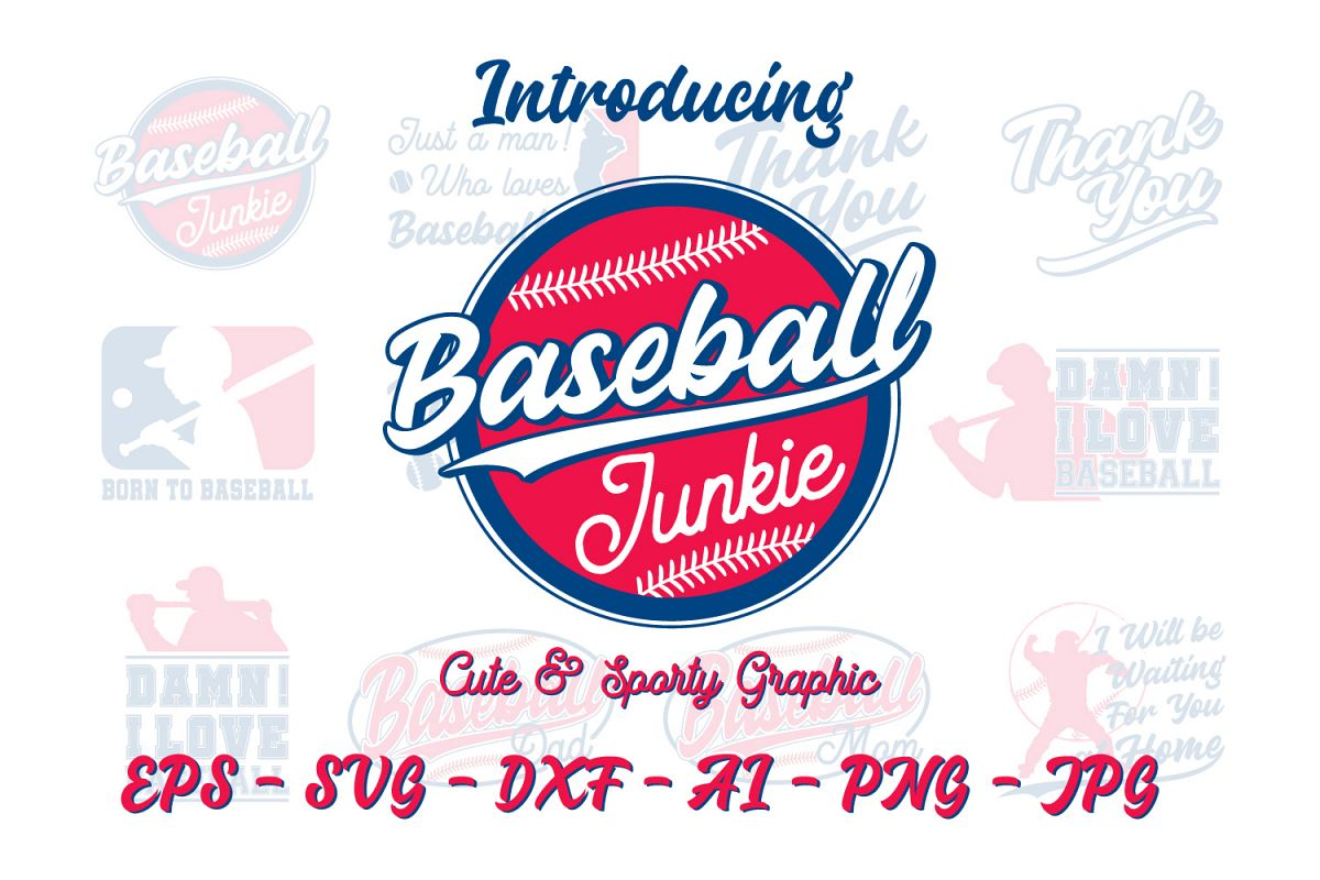 Cute & Sporty Graphic - Baseball Edition  example image 1