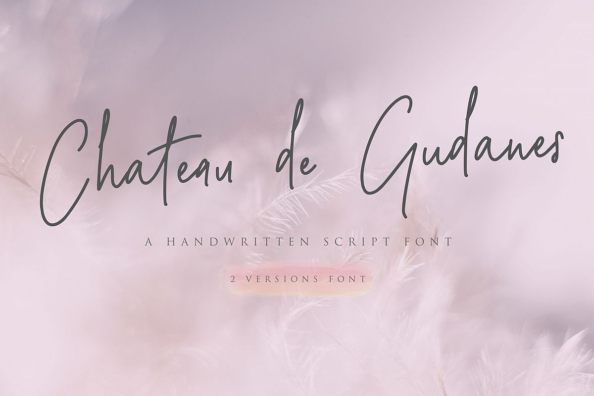 Chateau de Gudanes  2 Elegant Fonts example image 1