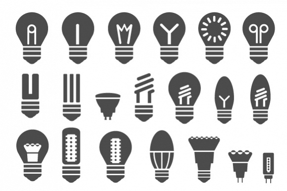 Set of energy saving lamps example image 1