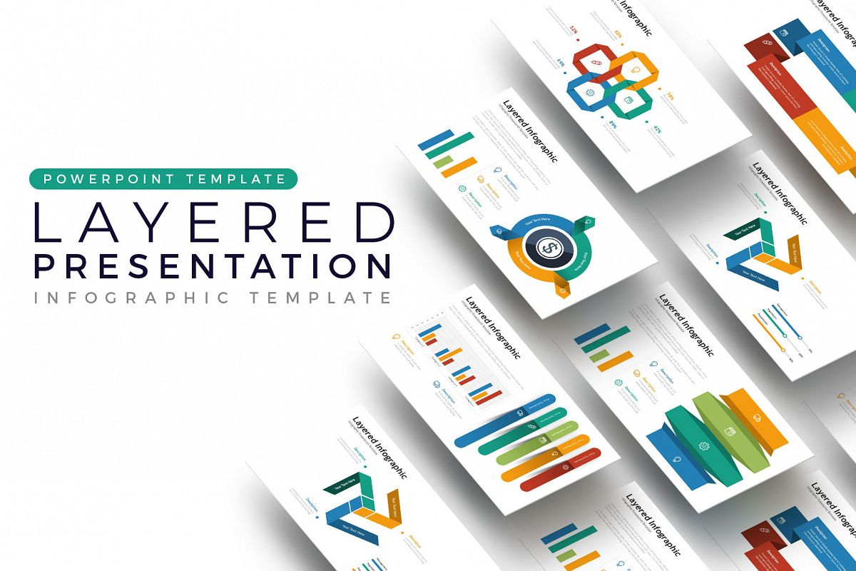Layered Presentation - Infographic Template example image 1