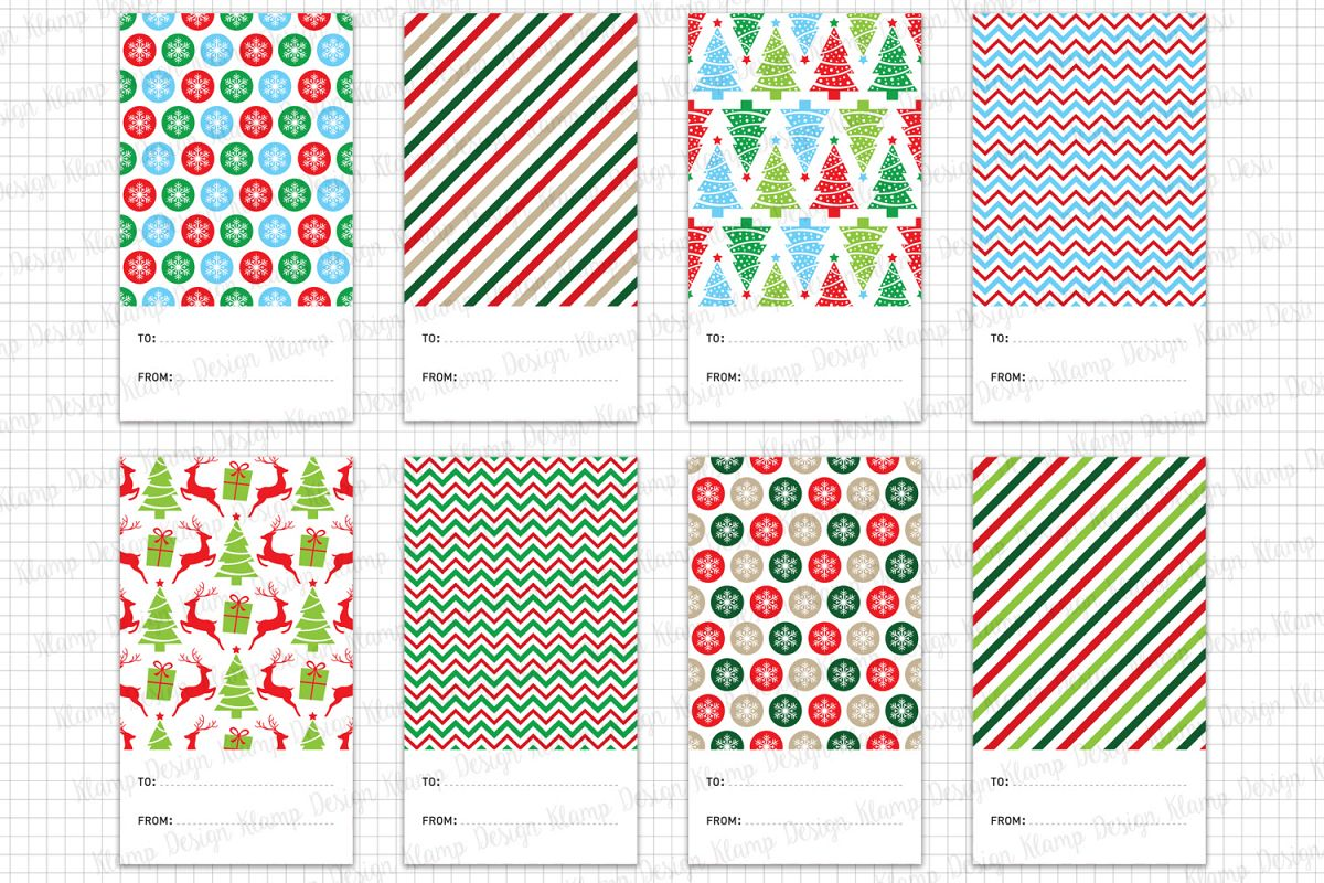 Christmas Gift Tags Printable, Christmas Graphic and Illustrations ...